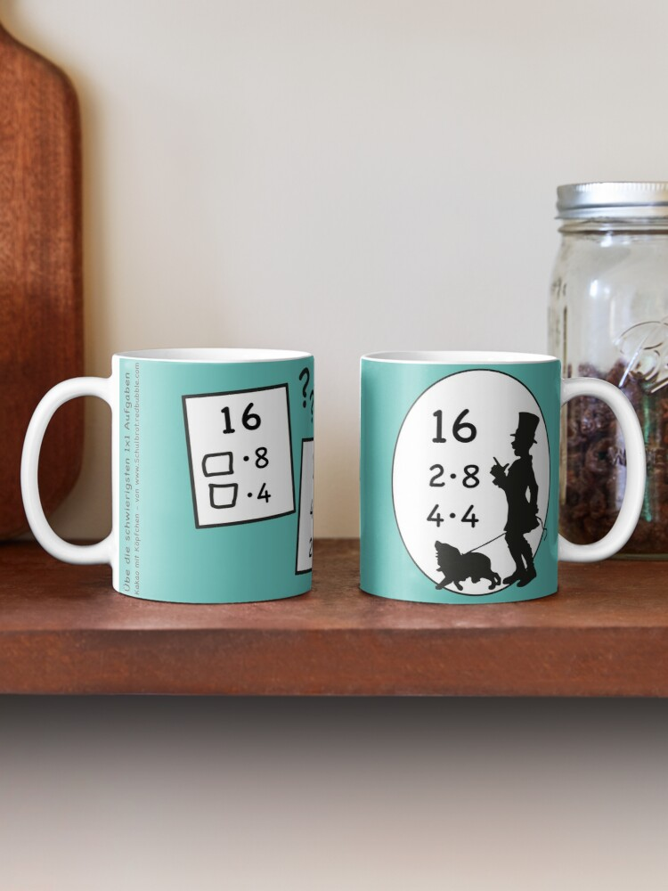 Alternate view of 1x1 tasks, today the 16 - cocoa with brains - learning with fun Mug