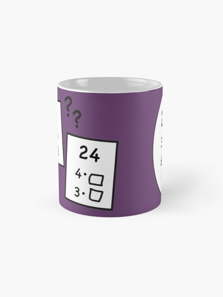 Alternate view of Difficult 1x1 tasks by the way, today the 24 - cocoa with brains - learning with fun Mug