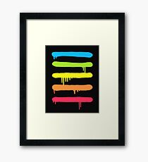 Trendy Cool Graffiti Tag Lines Framed Print