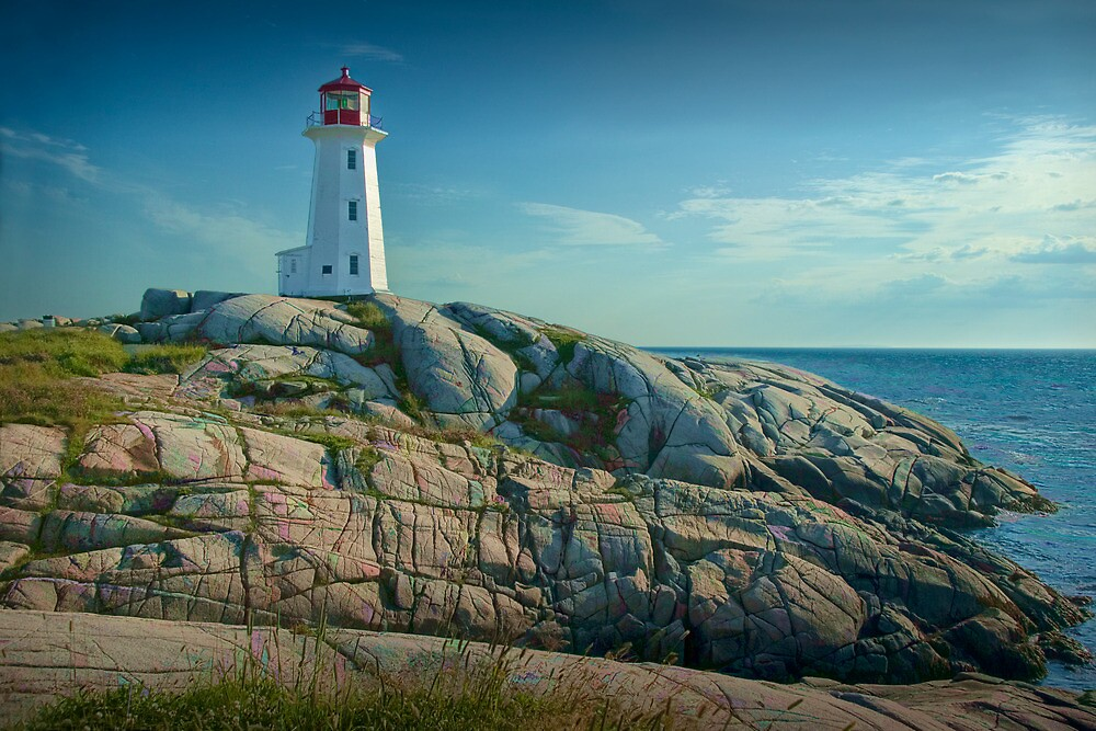 Lighthouse at Peggy's Cove No. 134 by Randall Nyhof