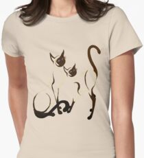 Two Siamese Cats Women's Fitted T-Shirt