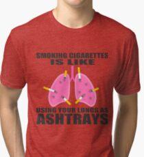 Ashtray lungs Tri-blend T-Shirt