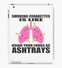 Ashtray lungs iPad Case/Skin