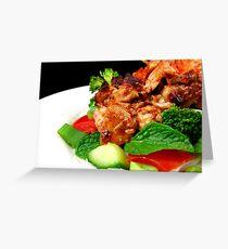 Spicy Vietnamese Chicken Salad Greeting Card