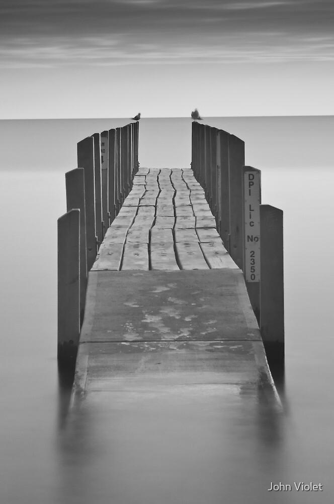 Monochrome Pier by John Violet