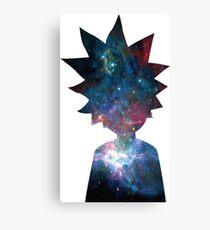 Rick and Morty Galaxy Design Canvas Print