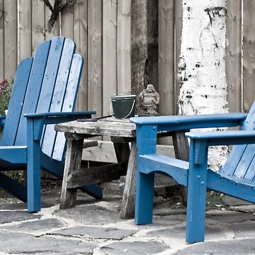 Blue Seating For Two by SandraFoster