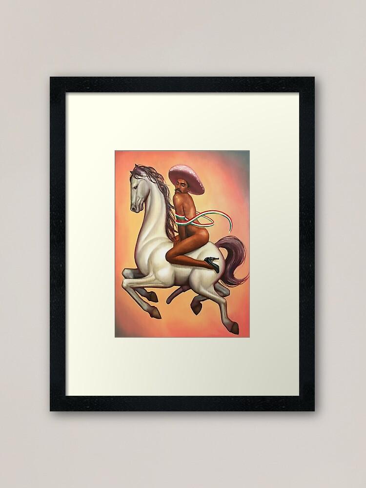 Alternate view of Banksy Fabián Cháirez Gay Zapata Revolutionary The Revolution La Revolución LGBT Framed Art Print