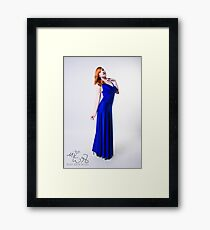 Mary Kate - Blue Dress Framed Print