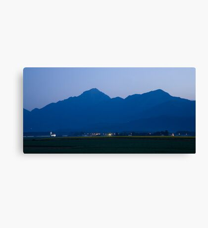 Krvavec and the Kamnik Alps at dawn Canvas Print