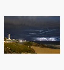 City Beach Spring Storm Photographic Print