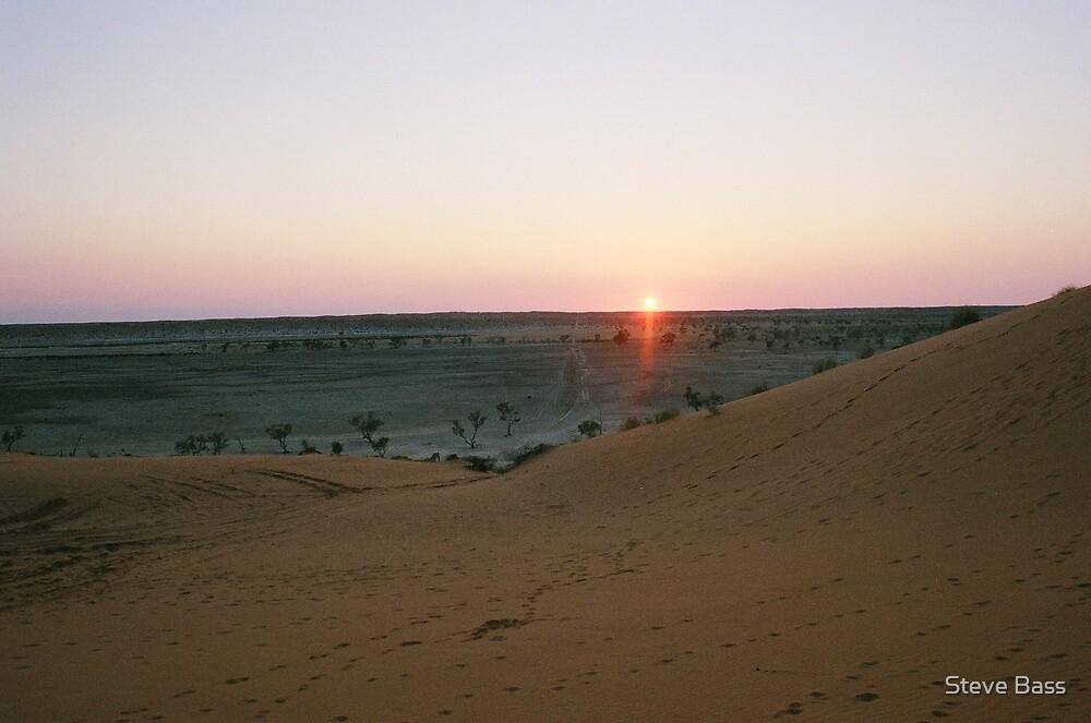 Sunset in the Simpson Desert by Steve Bass
