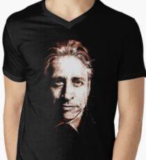 Camiseta de cuello en V Jon Stewart