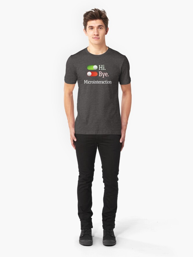 Alternate view of Microinteractions. Slim Fit T-Shirt