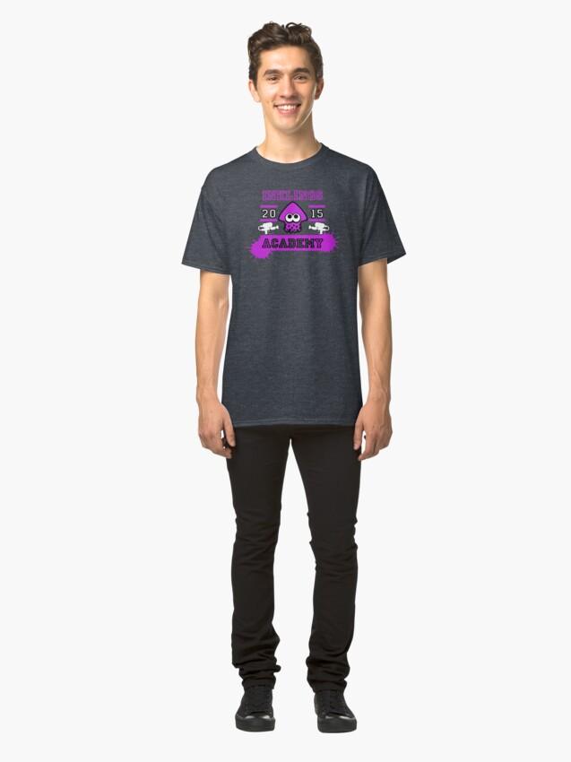 T-shirt classique ''SPLATOON ACADEMY PURPLE': autre vue