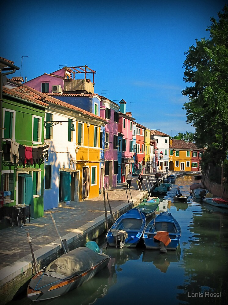 Window on Beautiful Burano Italy by Lanis Rossi