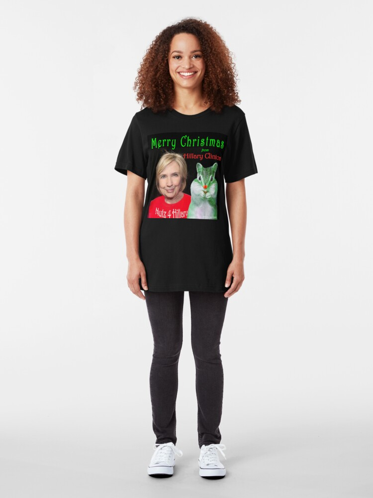 Alternate view of Nutz 4 Hillary Xmas Slim Fit T-Shirt