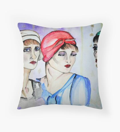 Waiting room for thoughts Throw Pillow