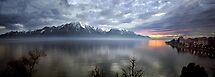 Mountain Lake at Dusk by billyboy