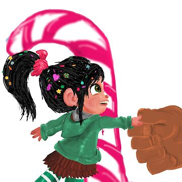 Vanellope and Ralph Shake on it by greeneggsandcam