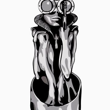 Giger's Birth Machine Baby by Biomechanoid56