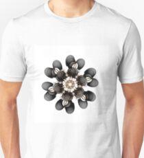 Black and Gold Flower Unisex T-Shirt