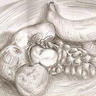 Fruit Bowl Still Life by Vicki Lau