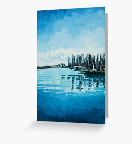 Coal Harbour, Vancouver Greeting Card
