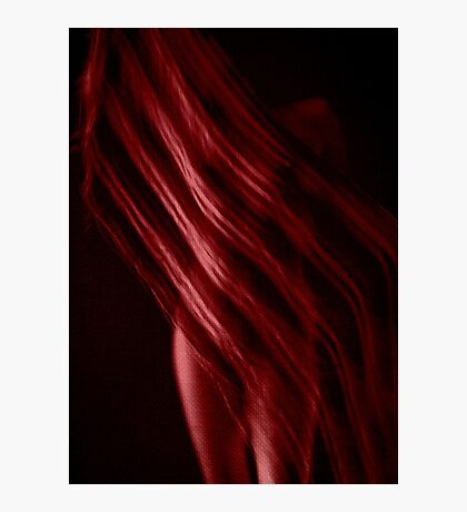 Scarf with Stripes in Red Photographic Print