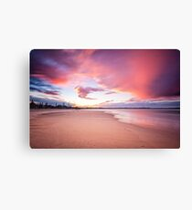 Sunset, Kingscliff Beach Canvas Print