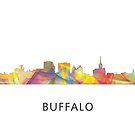 Buffalo, New York Skyline WB1 von Marlene Watson