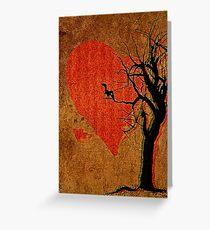 Heart, Tree, Raven Greeting Card