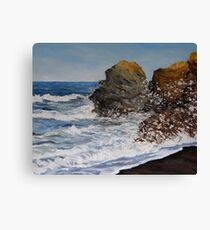 Northern California Surf Released Canvas Print