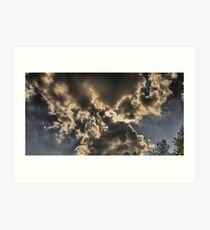 Bow Tie Clouds Art Print