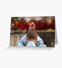 Bodh Gaya Prayer Greeting Card
