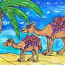 Camel Mum and Bub by kewzoo