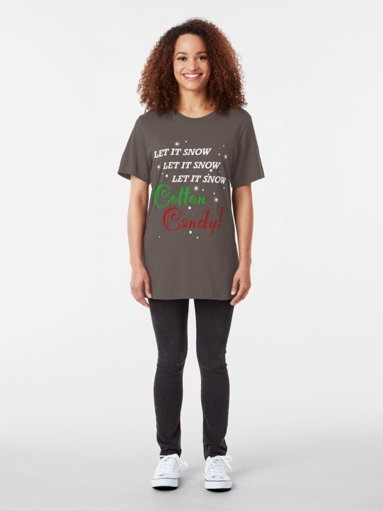 Alternate view of Let It Snow Cotton Candy Slim Fit T-Shirt