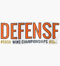 DEFENSE Wins Championships #SB50 Poster