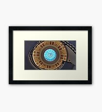 Spiral staircase view from below Framed Print