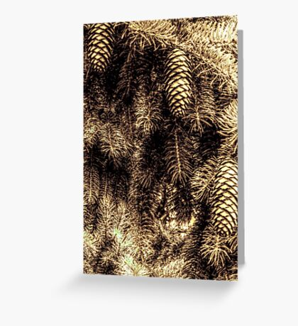 Pine Tree and Cones - Different aspect Greeting Card