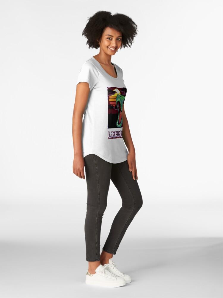 T-shirt premium échancré ''LIZARDRIVE': autre vue