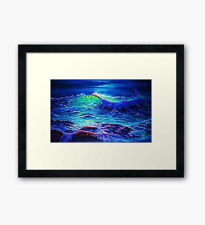 Midnight Surge Framed Print