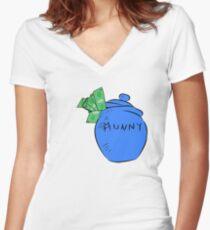 Munny Women's Fitted V-Neck T-Shirt