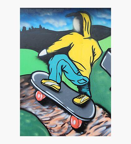 Skateboard graffiti, Meadow Lane, Birstall Photographic Print