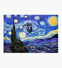 Starry Night Inspiration Doctor Who Tardis Products Photographic Print