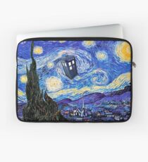 Starry Night Inspiration Doctor Who Tardis Products Laptop Sleeve