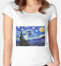 Starry Night Inspiration Doctor Who Tardis Products Women's Fitted Scoop T-Shirt