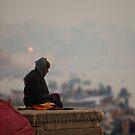 Varanasi Meditation by David Reid
