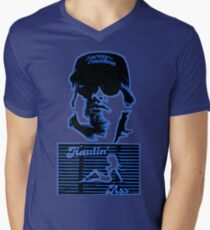 Jack Burton is Haulin' Ass in Little China Men's V-Neck T-Shirt