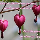The greatest of these is love by hummingbirds